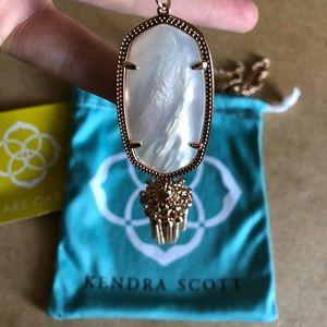 Kendra Scott Rayne rose gold necklace